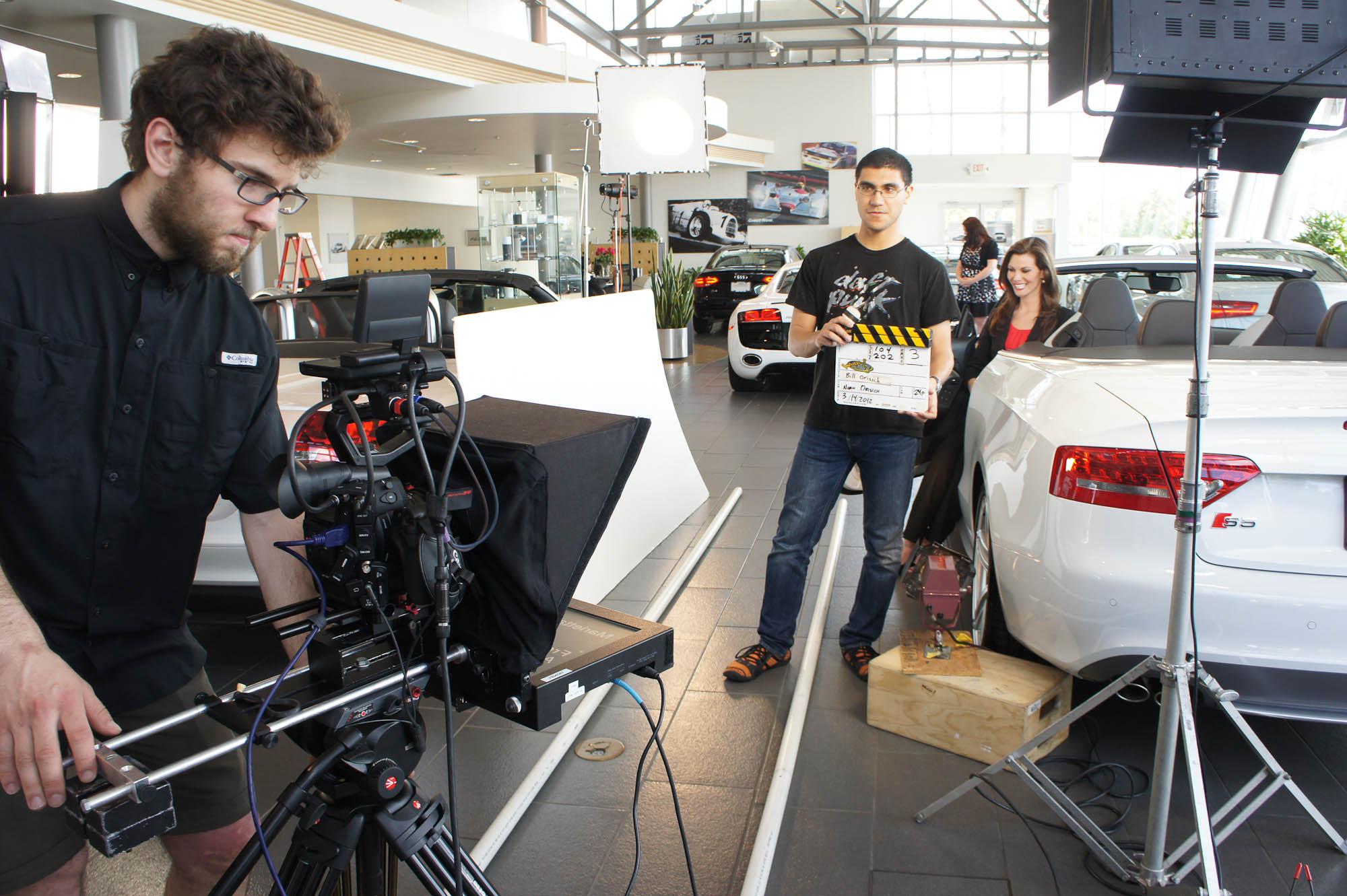 noah orisich shoot Audi spot